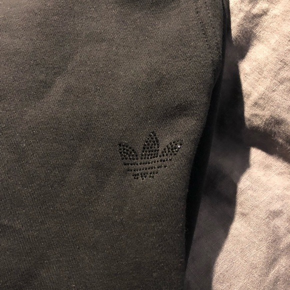 Adidas Pantaloni Originali Nero Vello Nero Originali Poshmark Sudore 853484